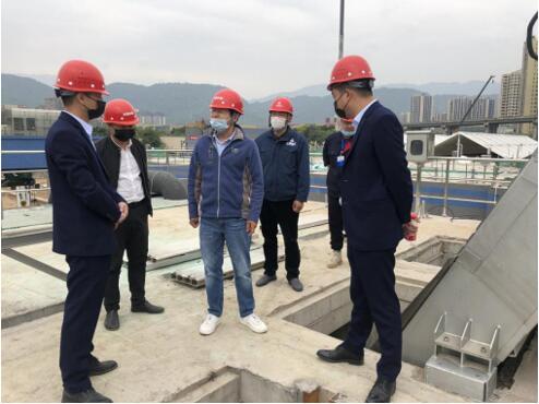 天瑞仪器董事长刘召贵博士深入雅安项目施工现场检查指导工作